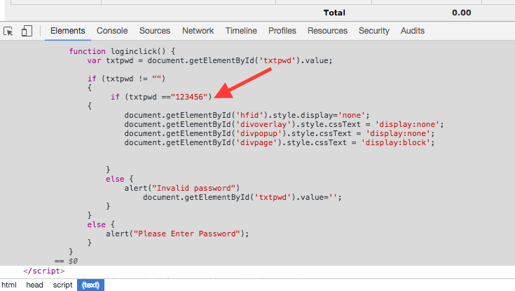 password in html