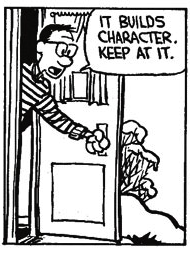 calvin and hobbes builds character