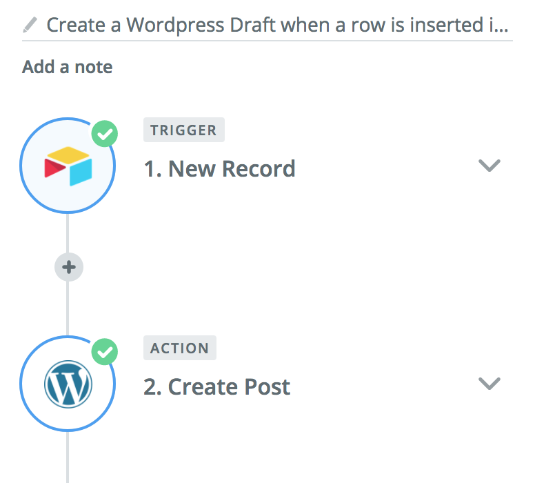 zapier airtable and wordpress